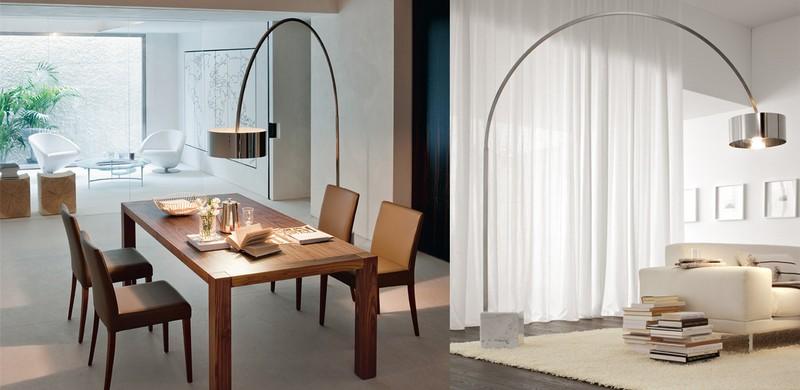 Lampada da terra moderna per sala immagini ispirazione for Arredamenti paoletti