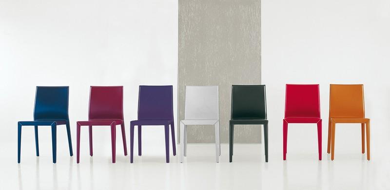 Sedie moderne in cuoio pelle ed ecopelle - Paoletti Arredamenti Frascati