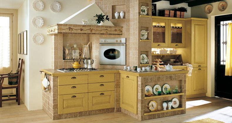 Cucine country e muratura paoletti arredamenti frascati for Piani a due piani in mattoni a vista