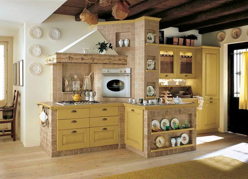 Cucine country e muratura paoletti arredamenti frascati for Arredamento cucina country