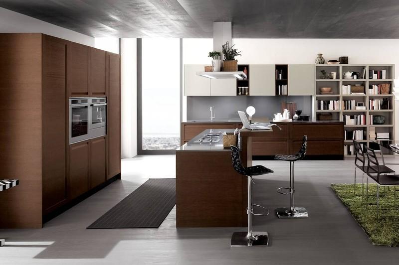 Cucine moderne paoletti arredamenti frascati for Cucine in ciliegio moderne