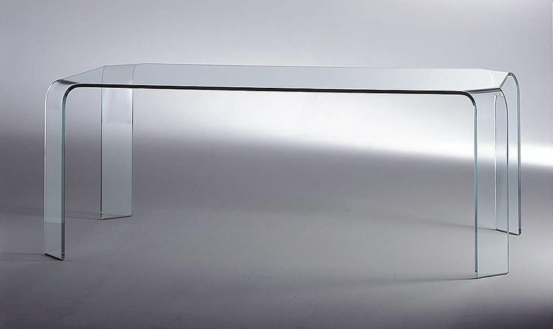 Tavoli In Cristallo Fiam.Fiam Tavolo Cristallo Ovale Llt Wood Il Tavolo In Vetro E Legno
