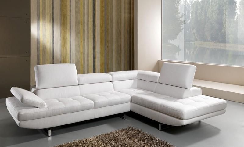 Best divano in pelle bianco contemporary acrylicgiftware - Divano bianco in pelle ...