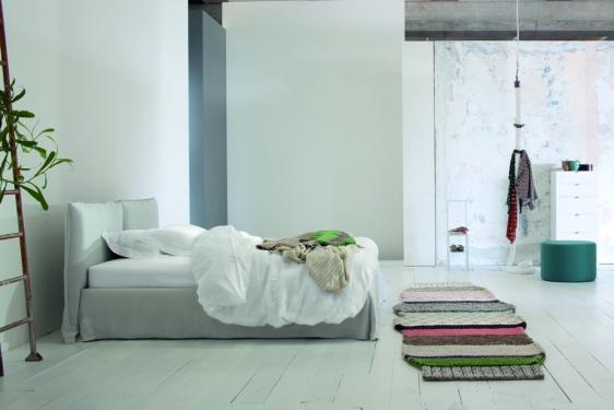 Letti in tessuto paoletti arredamenti frascati - Barre per letto ...