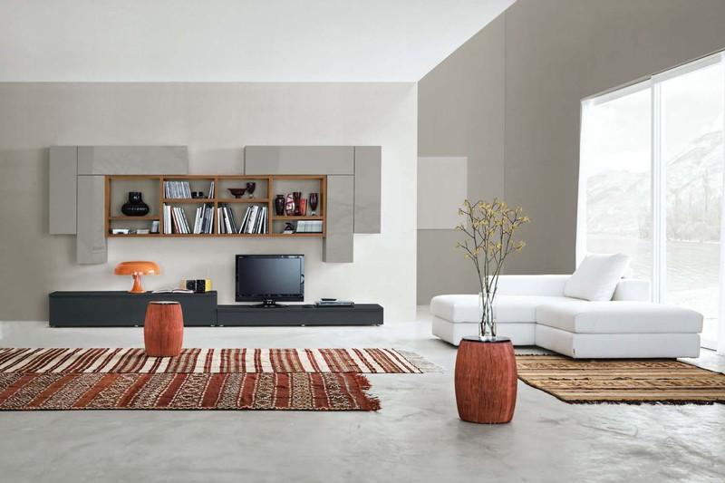Pareti attrezzate moderne paoletti arredamenti frascati for Piccoli mobili per soggiorno