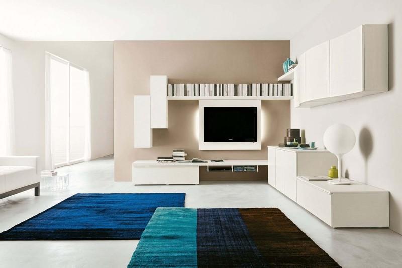 Pareti attrezzate moderne paoletti arredamenti frascati for Immagini pareti colorate soggiorno