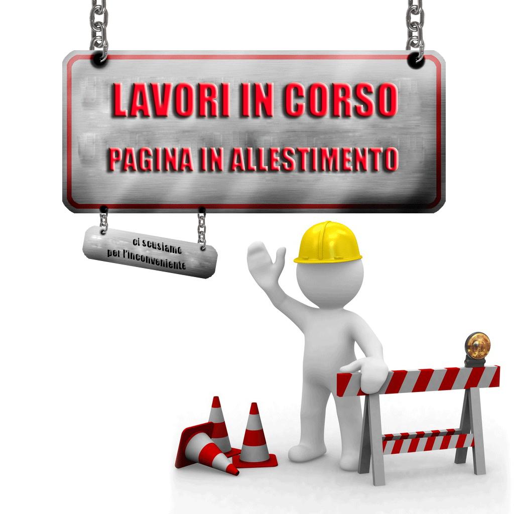 Website pagina in costruzione